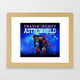 travis astroworld scott Framed Art Print