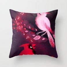 Cardinal Song Throw Pillow