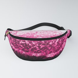 Pink Water Splash Fanny Pack
