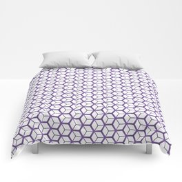 Cubed Pantone Purple Pattern Comforters