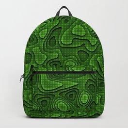 Abstract green polka dots  Backpack