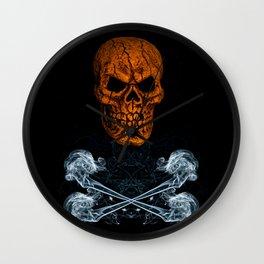 Skull And Crossbones 1 Wall Clock