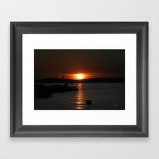 Silver Lake Sunset Landscape Framed Art Print
