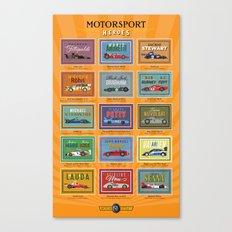 Motor Style Inc.: Motorsport Heroes Canvas Print