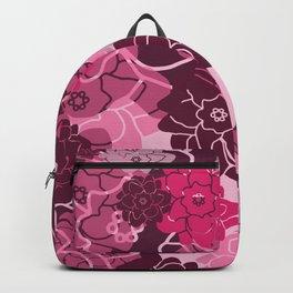 Flower Blossoms Design - pink violet  Backpack