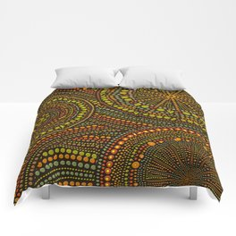 Dot Art Circles Aboriginal Art #2 Comforters