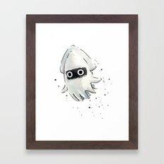 Blooper Squid Mario Watercolor Geek Art Framed Art Print