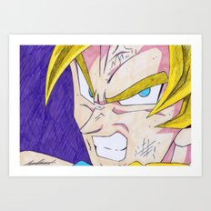 Goku DBZ Art Print