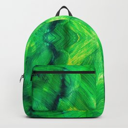 Brush play in hues of green 13 Backpack