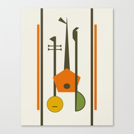 Mid-Century Modern Art Musical Strings Canvas Print