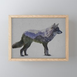 The Rocky Mountain Gray Wolf Framed Mini Art Print