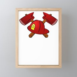 Firefighter Father's Day Firefighter Funny saying Birthday Gift Framed Mini Art Print