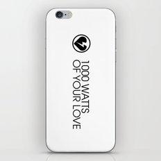 1000 Watts iPhone & iPod Skin