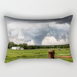 Siren - Large Tornado In Texas Panhandle Rectangular Pillow