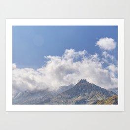 Gotthard Pass Art Print