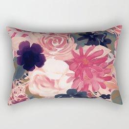 Mulberry Blooms Rectangular Pillow