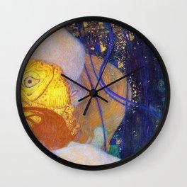 Gustav Klimt - Goldfische - Digital Remastered Edition Wall Clock