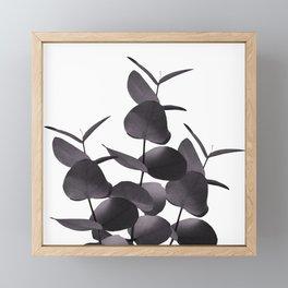 Eucalyptus Leaves Black White #1 #foliage #decor #art #society6 Framed Mini Art Print