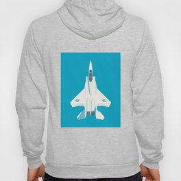 F15 Eagle Supersonic Jet Aircraft - Cyan Hoody