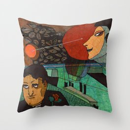 Date at the sunset Throw Pillow