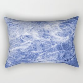Deep blue sea marble texutre Rectangular Pillow