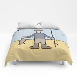 Beavid and Butthead Fisherman picture Comforters