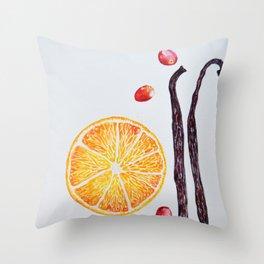Cranberry Orange Vanilla Throw Pillow