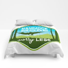 Hammock More.Worry Less. Comforters