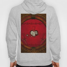 Beautiful elegant hearts with roses Hoody