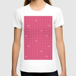 Hugs, Kisses, Love, and Pi - Pink  T-shirt