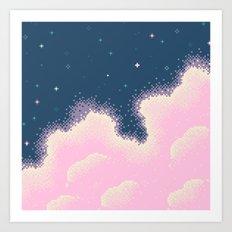 Cotton Candy Galaxy Art Print