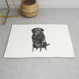 Black Labrador Rug