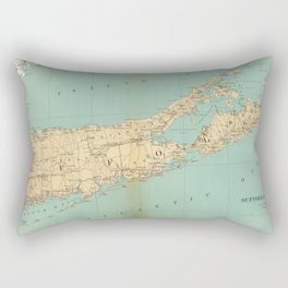 Vintage Map of Suffolk County NY (1895) Rectangular Pillow