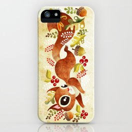 Playful Squirrel iPhone Case