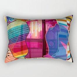 rainbow print flower Rectangular Pillow