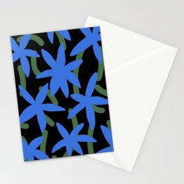 Blue flowers garden Stationery Cards
