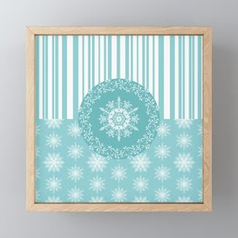 Frosty Snowflakes Coordinate Framed Mini Art Print