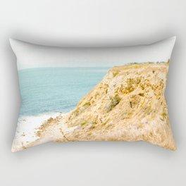 Travel photography Palos Verdes Ocean Cliffs Seascape Landscape II Rectangular Pillow