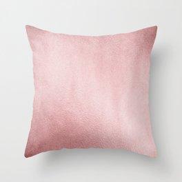 Simply Rose Gold Sunset Throw Pillow