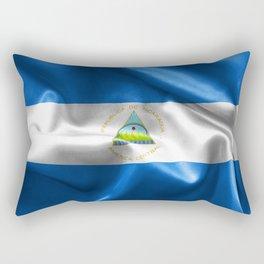 Nicaragua Flag Rectangular Pillow