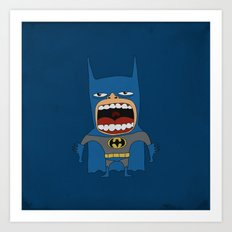 Screaming Batdude Art Print