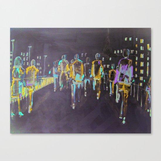 foot traffic 03 Canvas Print