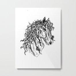 Friesian Metal Print