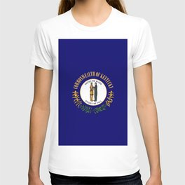 Kentucky State Flag Patriotic Design T-shirt