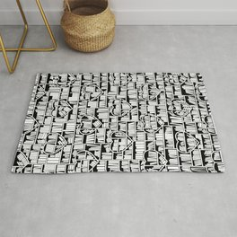Book Lover Heart Library Pattern Rug