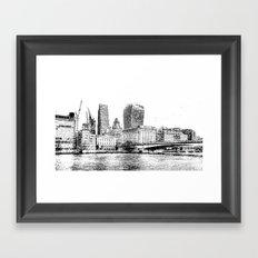 City of London Art Panorama Framed Art Print