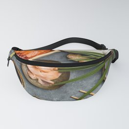 Asian food background Fanny Pack
