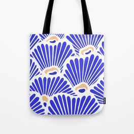 Blue Shell Pattern Tote Bag