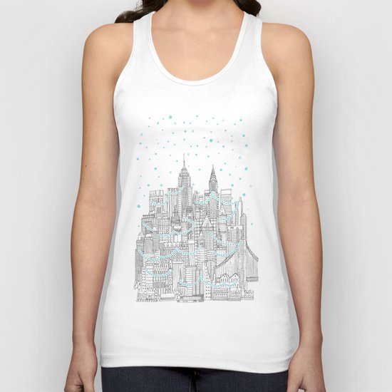 Winter in New York Unisex Tank Top