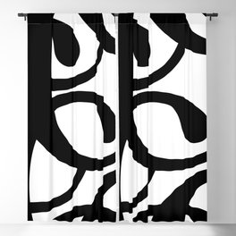 Hidden Letters. Baskerville C Blackout Curtain